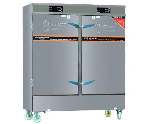 Tủ Nấu Cơm 24 Khay kết hợp Gas- Điện bảng điều khiển Việt Nam nấu đến 100 kg gạo