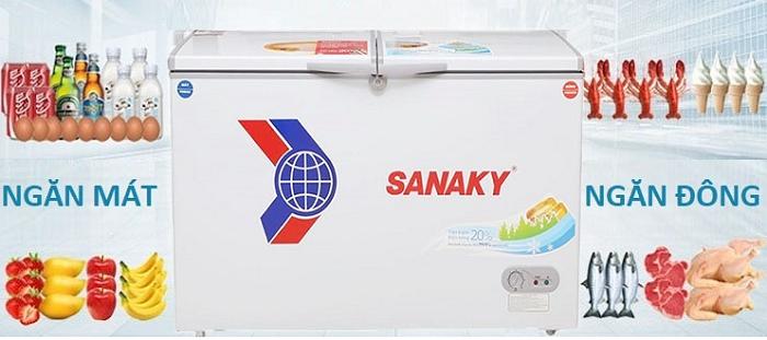 Tủ Đông Mát Sanaky VH 3699w1 600 Lít Tại VinSun