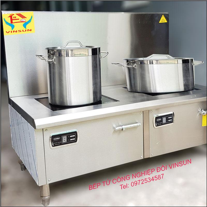 Bếp Từ Công Nghiệp Đôi Mặt Phẳng 16KW VinSun