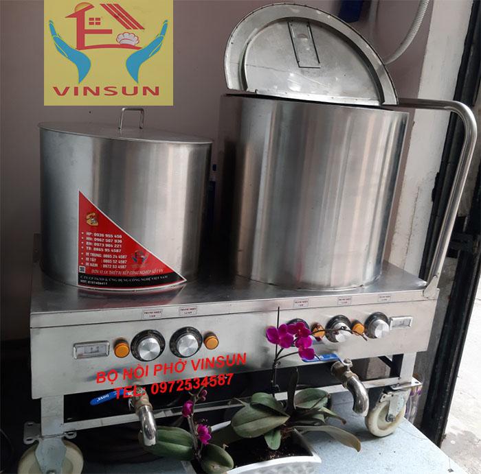 Bộ Nồi Inox Nấu Phở Bằng Điện Di Động 30 và 100 Lít VinSun