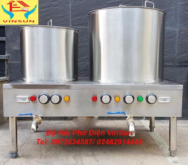 Bộ Nồi Inox Nấu Phở Bằng Điện 30 và 70 Lít VinSun