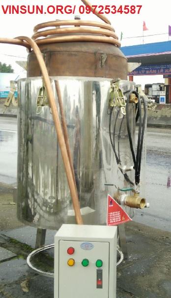 Nồi Nấu Rượu Bằng Điện Inox Ruột Đồng 30 Kg Gạo