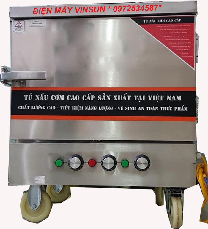 Tủ Nấu Cơm Điện 4 Khay Việt Nam Nấu đến 15 Kg Gạo