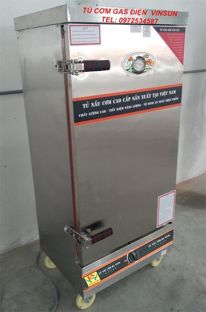 Tủ Cơm Gas Điện 12 Khay Việt Nam Nấu 50 Kg Gạo