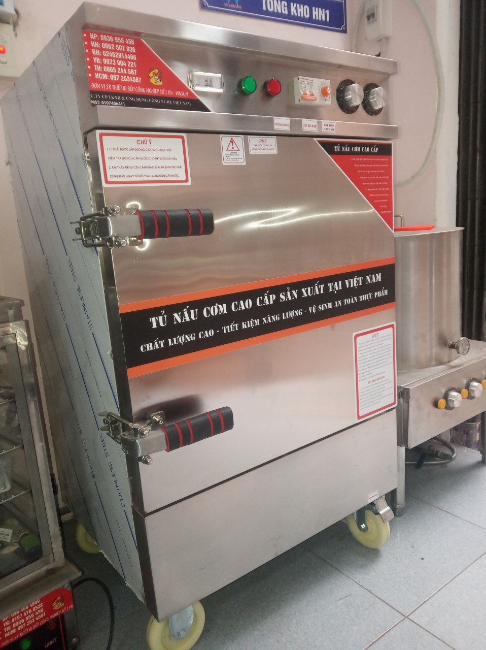 Tủ hấp bánh Flan-Caramen-Bánh Bao 6 Khay Điện Tự Động
